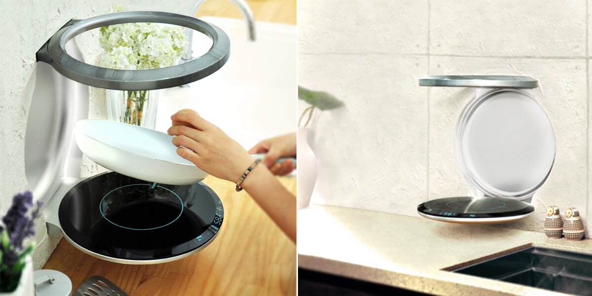 S.I.A.M. Induction Cooktop: Space Saving Wall Mounted Cooker