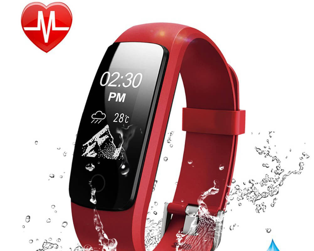 Fitness Tracker Watch - Smart Wristband for iPhone and Android