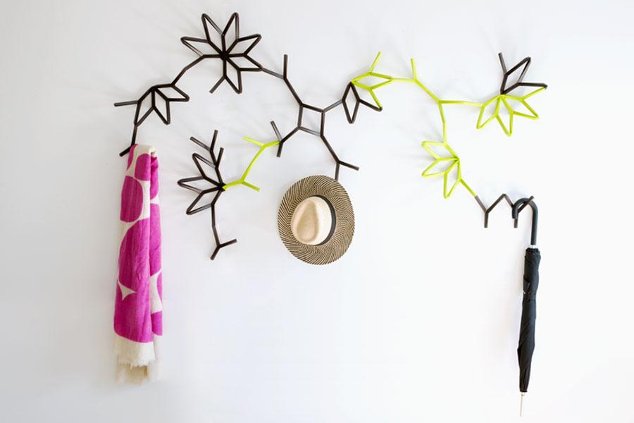 Ivy Coat Hooks: Modular Plant-like Connectable Hook