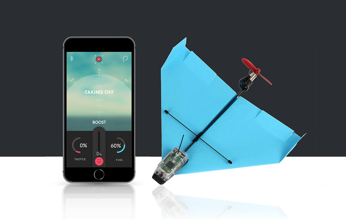 POWERUP DART - App Controlled Paper Airplane