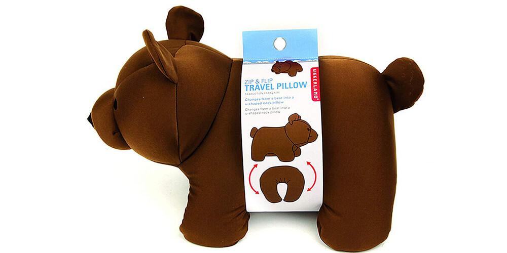 Zip and Flip - Adorable Travel Pillow