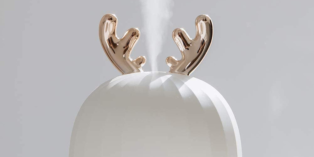 Cute Reindeer USB Cool Mist Humidifier with Breathing Light