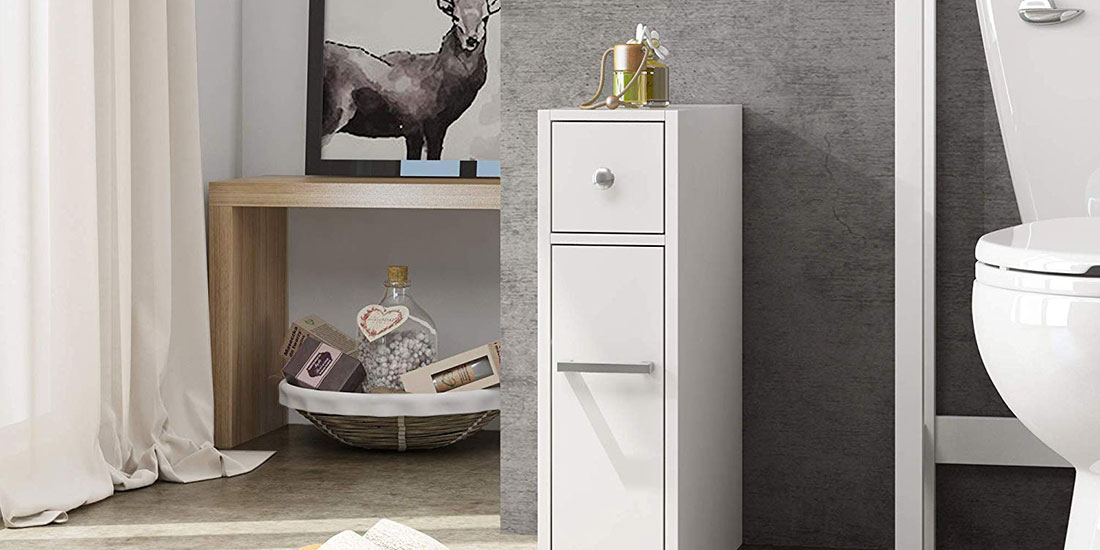 Slim Bathroom Storage Cabinet Small