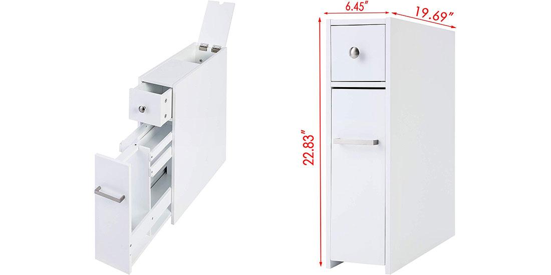 Slim Bathroom Storage Cabinet Small, Slim Storage Cabinet