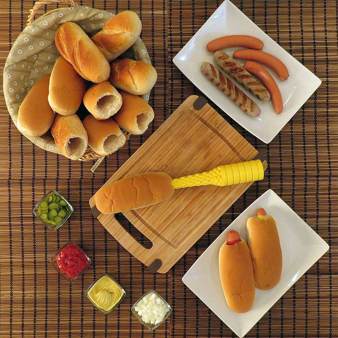Hotdogger: the Ultimate Hot Dog Bun Driller
