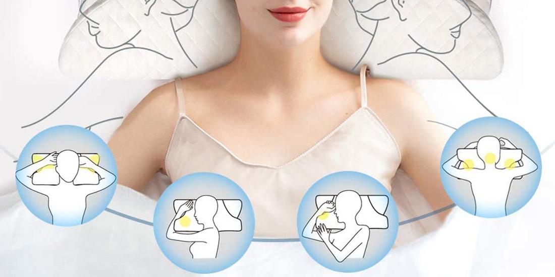 Innovative Ergonimic Pillow For Side Sleeper