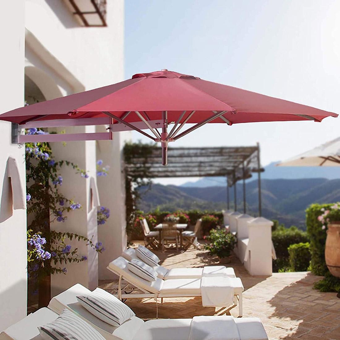 Wall Mount Patio Umbrellas Parasols